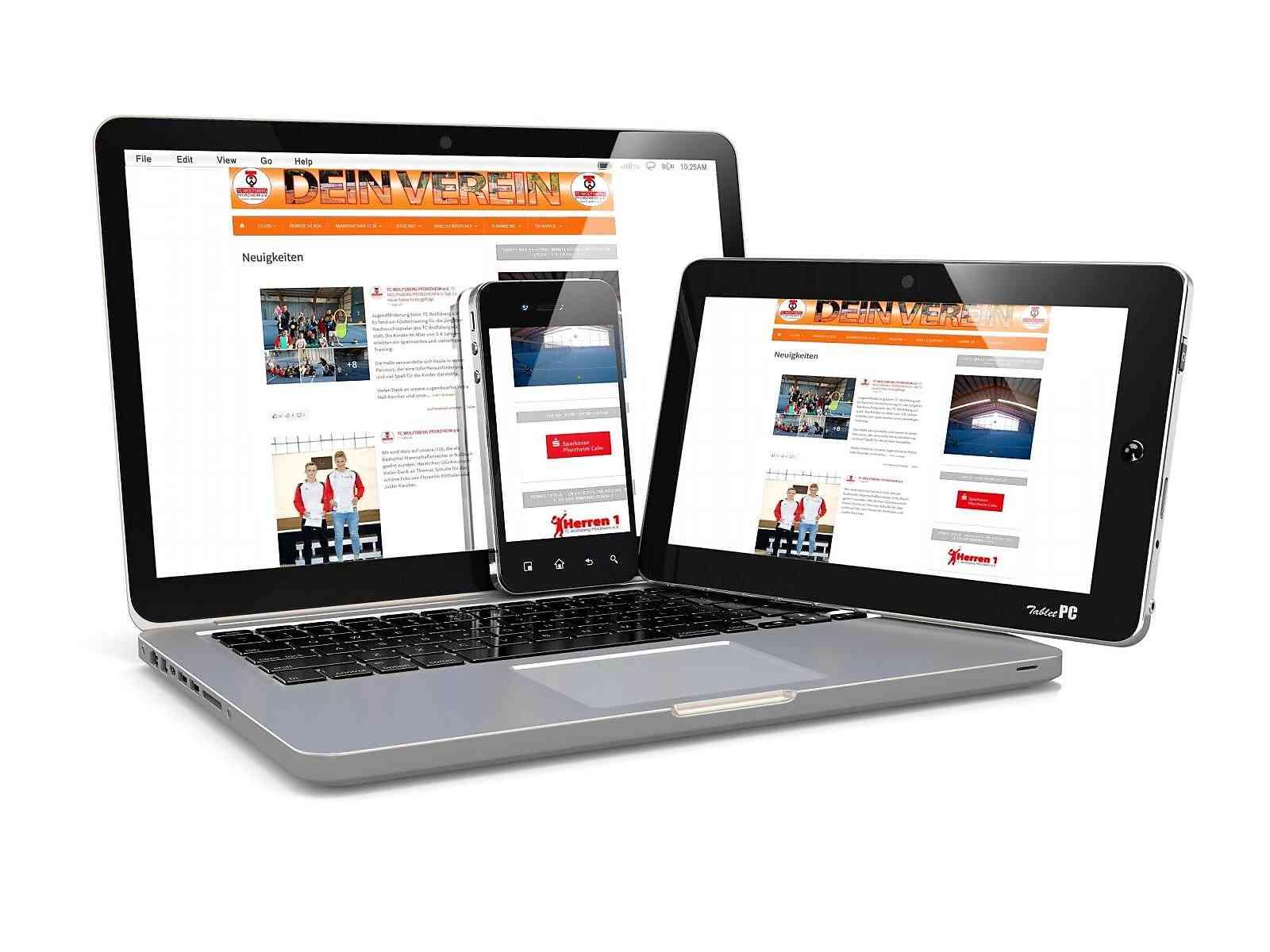 Kunden Webseiten: Vereinsseite TC Wolfsberg Pforzheim