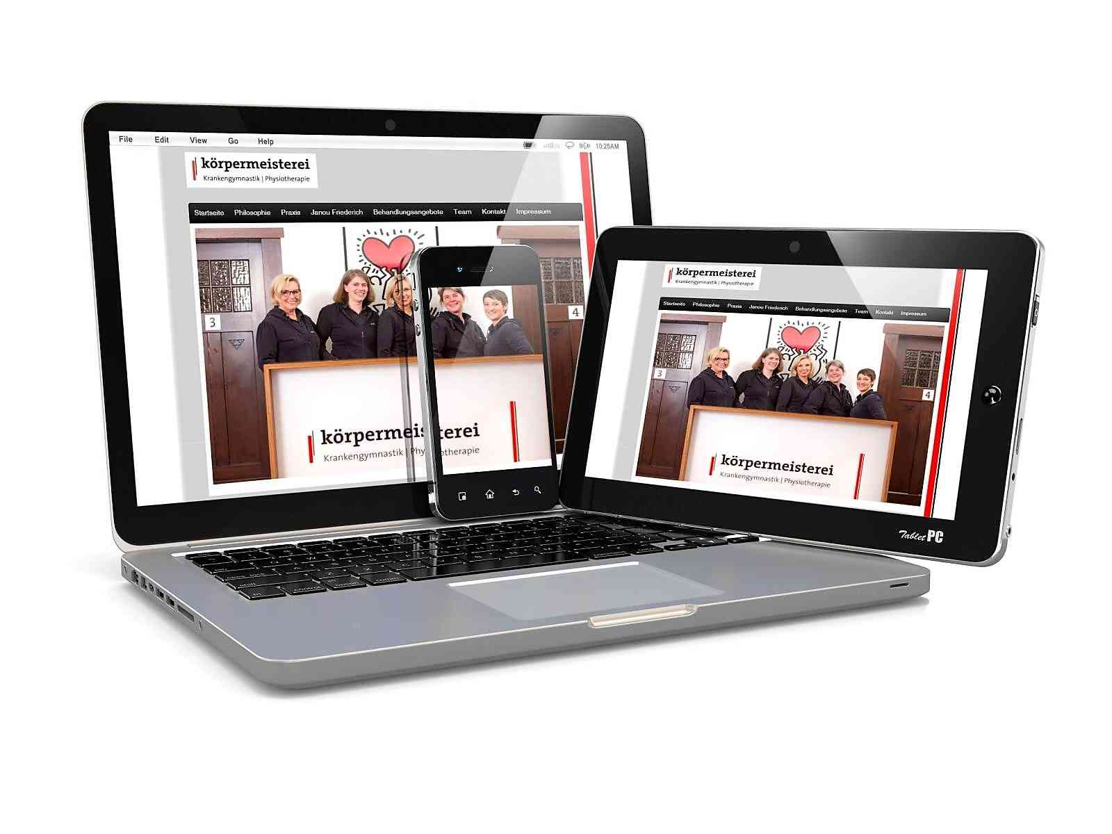 Kunden Webseiten: koerpermeisterei Physiotherapie Praxis Pforzheim