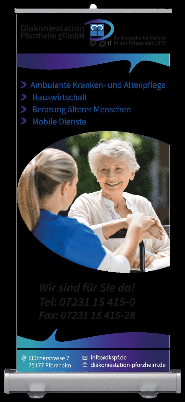 Roll-up-Diakoniestation-Pforzheim-Grafikdesign-von-der-eberin