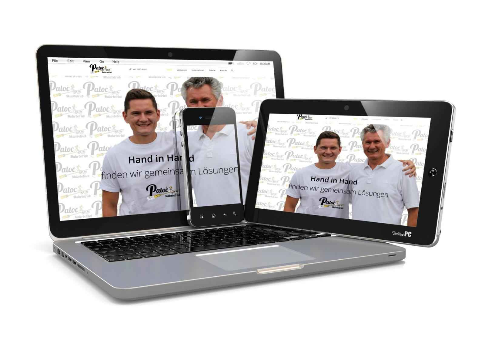 die eberin Webdesign Relaunch Webseite Patoc Maler Betrieb Niefern Oeschelbronn