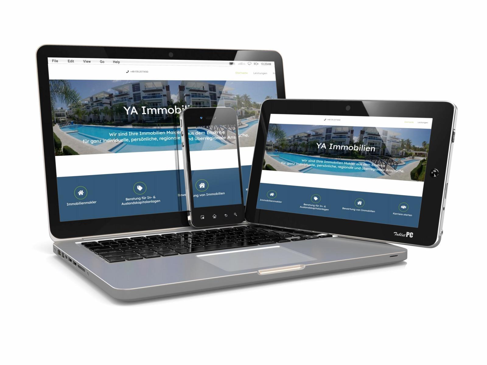 eberin Webdesign Pforzheim Referenz YA Immobilien Pforzheim Enzkreis